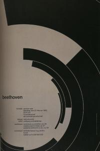 Josef-Muller Brockmann, Beethovan, 1955, Poster, Offset lithograph, (127.5 x 90.3 cm). Zurich