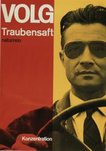 Josef-Muller Brockmann, Volg Traubensaft, 1962. Poster. Zurich