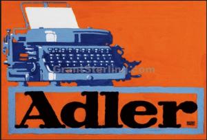 """"""" Adler"""" poster Lucien Bernhard  1914"""