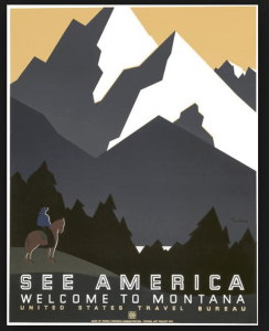 """""""See America"""" posters M. Weitzman commissioned by the US Travel Bureau 1930"""
