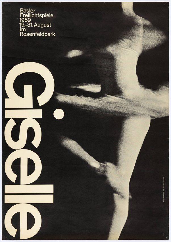 Armin Hofmann, Giselle opera poster, 1959