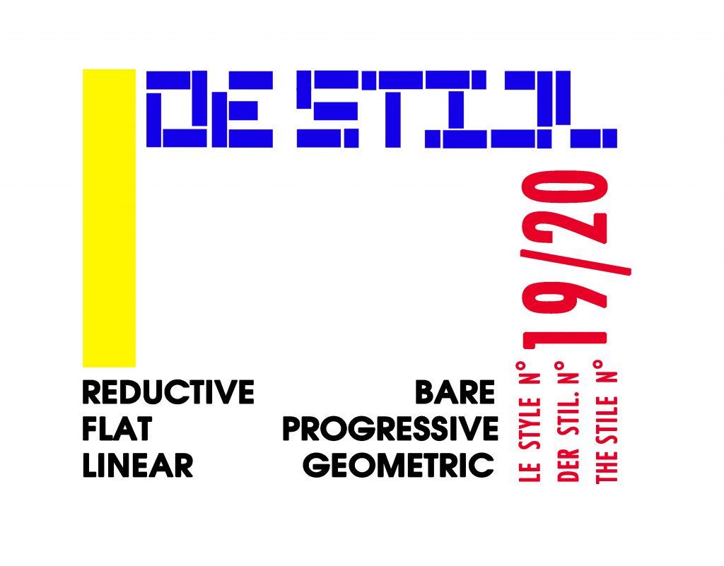 De Stijl; reductive, bare, flat, progressive, linear, geometric.