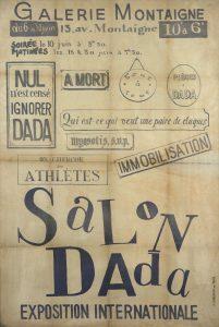 Triststan Tzara, Salon Dada poster Paris, 1921