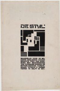 Figure 1: Vilmos Huszar, De Stijl, 1917. Art journal. Artstor.