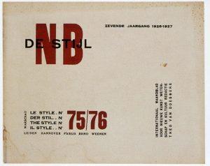 Theo van Doesburg, NB De Stijl, 1921. Art Journal. Artstor.