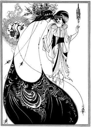 """""""The Peacock Skirt"""" by Aubrey Beardsley, 1893."""
