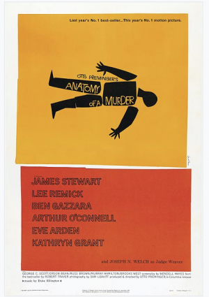 Saul Bass, Anatomy of a Murder 1959