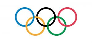 The unchanged logo for the Olympic Games over a century later.