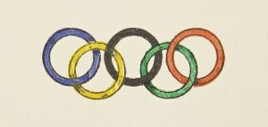 logo of the Olympics when first introduced