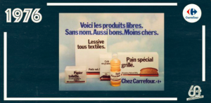 Le Carrefour advertisement from 1976 (Carrefour twitter account)