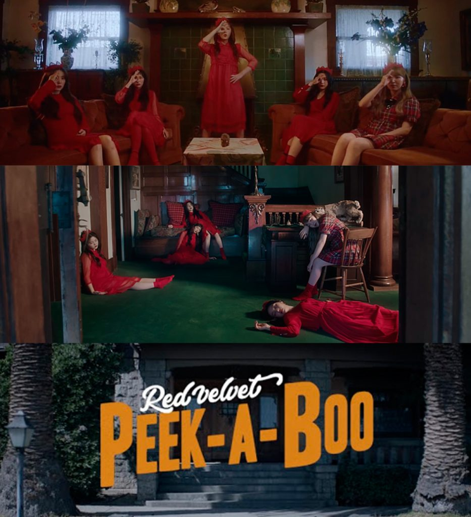 "Screenshots from ""Peek-A-Boo"" music video, 2017"