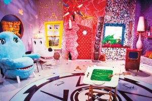 Set from Pee-wee's Playhouse. Photo from https://www.thecut.com/2017/05/the-memphis-design-movement-is-having-a-moment.html