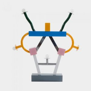 """Ashoka"" Lamp Design by Ettore Sottsass, lacquered metal 1981. Image from https://www.memphis-milano.com/products/ashoka?_pos=1&_sid=f9ff5140c&_ss=r"