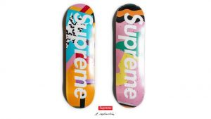 Memphis inspired Skateboards by Alessandro Mendini and Supreme. Image from https://www.creativebloq.com/inspiration/10-iconic-examples-of-memphis-design