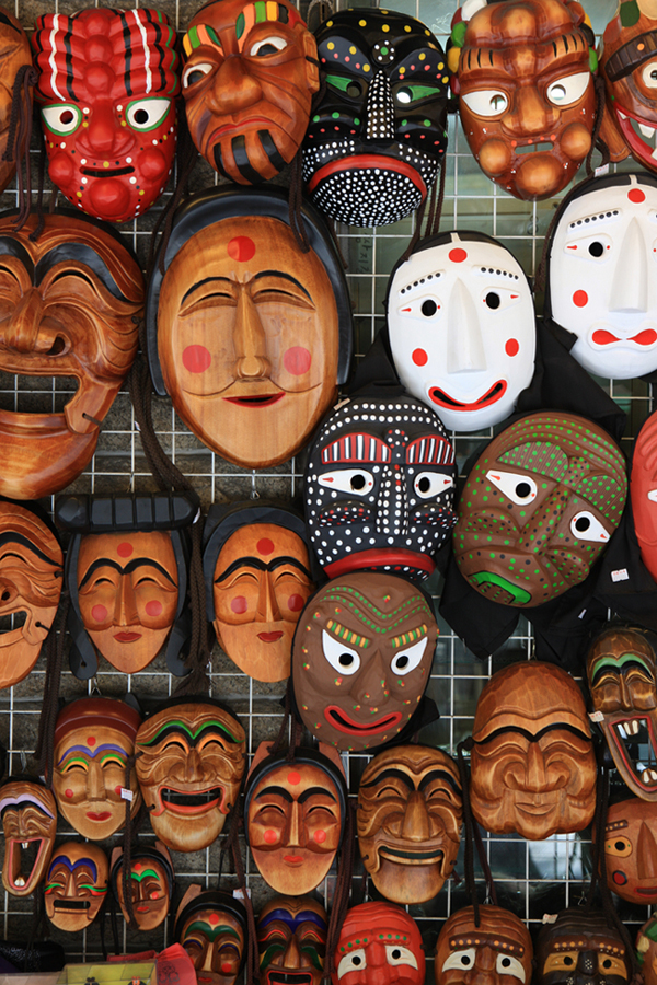 various-korean-traditional-masks