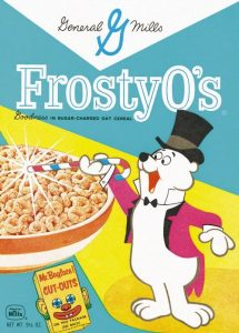 Fig. 8. Frosty O's Cereal Box, 1960s