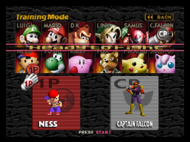 Super Smash Brothers ? Character Selection