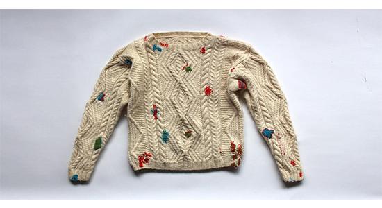 Photo of sweater on lightbox