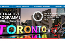 !st North American Conference on Integrated Care. October 4th-7th 2021, Toronto Canada.Image is of the Toronto letters at City Hall in Central Toronto.