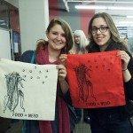 Friends of the Food=Need OCAD U event with their silkscreen tote bags