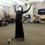 Lisa Anita Wegner performing Metamorphosis at Opening Reception Library Services Learning Zone