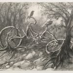 Degrading Bike, graphite pencil by Yina Wang