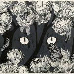 Premonition, ink and digital by Xulin Wang