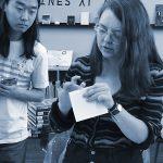 Hardbook binding workshop Yifu and Marta