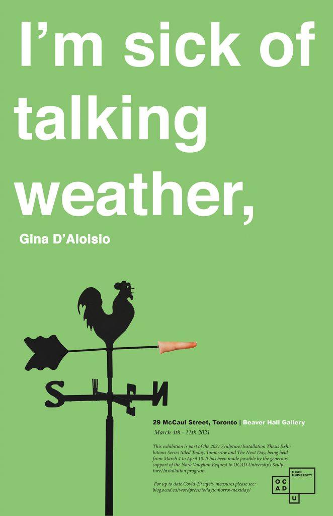 I'm sick of talking weather,