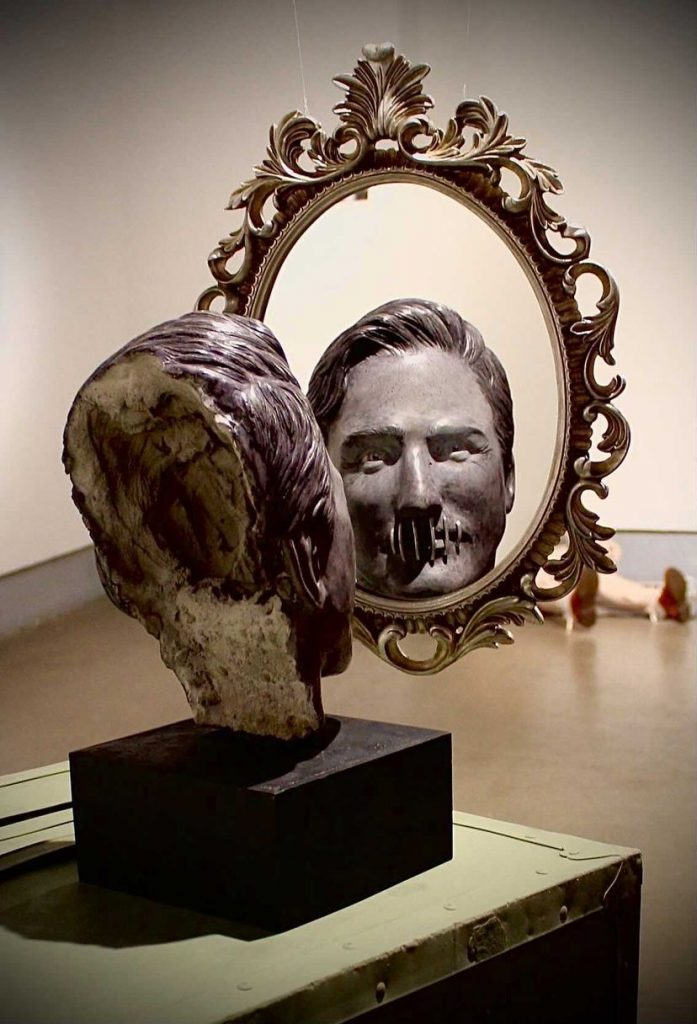 """""""Closer Than They Appear"""" Robert Gordon Ridgway (Mixed media, site specific installation)"""